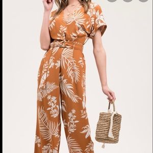 New blu pepper tropical leaf suit without belt lg